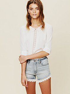 Lacey Denim Cutoff Shorts vogue