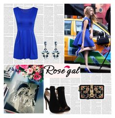 """Rosegal blue lady"" by antonija2807 ❤ liked on Polyvore featuring Dolce&Gabbana, pretty, jeans and rosegal"