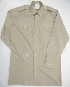 British army surplus fawn coloured uniform dress shirt LONG  SHORT sleeve