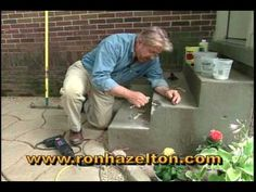 Home improvement expert Ron Hazelton demonstrates how to repair, patch or restore broken, chipped or damaged concrete steps. For more articles and videos on home repair and restoration, visit http://www.ronhazelton.com.