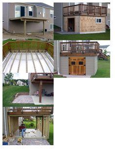 Shed under deck ***Repinned by Normoe, the Backyard Guy (#1 backyardguy on Earth) Follow us on; http://twitter.com/backyardguy