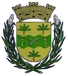 Escudo de Toa Baja, Puerto Rico: The waving stripe represents the Toa River, one of the first mentioned in the history of Puerto Rico, and in whose shores Juan Ponce de León tried to settle the first population of Puerto Rico. The keys, crossed in vane, symbolize Saint Peter, patron saint of the town. The handfuls of yucca refer to one of the main crop of this area, and constitute a symbol of the Indians who cultivated it, and whose main food was cassava or bread of yucca. ...