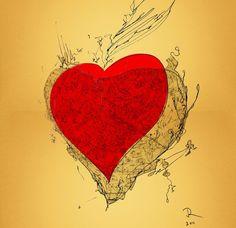 Map Shadow Heart Love. Juri Romanov. OrangeOptimist