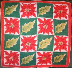 Sharon's Antiques Vintage Fabrics - Vintage Christmas Hankies and Fabrics