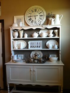White painted hutch!