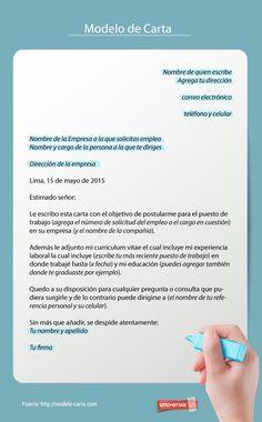 Cómo Redactar Una Carta De Solicitud De Empleo Carta De Solicitud Carta De Solicitud De Empleo Cartas De Motivacion
