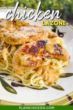 Chicken Lazone - ready in 15 minutes - no prep required! We made this 3 days in a row! Chicken seasoned with salt, chili powder, onion powder, garlic powder, and cayenne then simmered in butter and heavy cream. Seriously THE BEST!!! Meat Recipes, Chicken Recipes, Dinner Recipes, Cooking Recipes, Recipies, Dinner Ideas, Pasta Dishes, Food Dishes, Main Dishes
