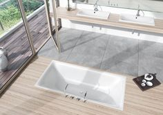 KALDEWEI bathroom: The sensually modern design of the SILENIO series distinguishes itself through its exciting tensions: The soft, organic interior shape culminates in a narrow, precise washbasin lip – with a straight-lined, geometrical external shape. Whirlpool Tub, Dream Bathrooms, Bathtub, Cleaning, Shower, Solomon, Germany, Powder Room, Bowl Sink