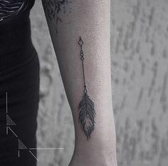 Small Arrow Tattoo by Rachael Ainsworth