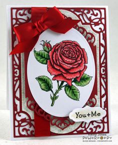 Inspired to Stamp: My English Rose