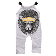 Cheap fashion romper, Buy Quality sleeveless romper directly from China rompers rompers Suppliers: new trendy baby outfit kid's cotton Gap girl's Grey Sleeveless romper Lion Tiger fashion printed jumpsuit All-In-One retail Baby Outfits, Kids Outfits, Ensembles Outfit, Boy And Girl Cartoon, Cute Baby Boy, Baby Boys, Jumpsuit Outfit, Baby & Toddler Clothing, Infant Girls