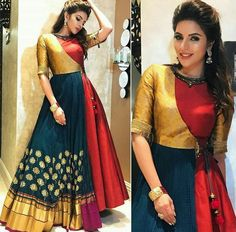 NEXT– 15 Beautiful and Trendy Lace Dresses of 2018 So, you have a lot of kurits and now you are bored of them. Indian Attire, Indian Outfits, Indian Wear, Indian Style, Mode Bollywood, Bollywood Fashion, Bollywood Style, Folklore Mode, Indian Gowns Dresses