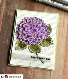 """293 Likes, 2 Comments - Hero Arts (@heroarts) on Instagram: """"Check out the stunning card Jana created with our new Large Hydrangea stamp and coordinating dies!…"""""""