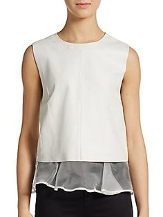 Tierney Leather Top - SaksOff5th