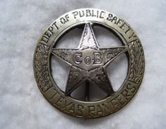 The search for a r e a l Texas Ranger badge is the collecting version of the Agony and the Ecstasy. and mostly agony . Texas Rangers Law Enforcement, Law Enforcement Badges, Tx Rangers, Walker Texas Rangers, Outlaw Women, Old West Outlaws, Mein Hobby, Dallas, Lone Star State