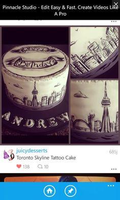 Tattoo Cake, Skyline Tattoo, Toronto Skyline, Compass Tattoo, Tattoos, Tatuajes, Tattoo, Tattos, Tattoo Designs