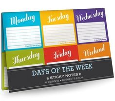 Fancy - Days of the Week Sticky Note Packet