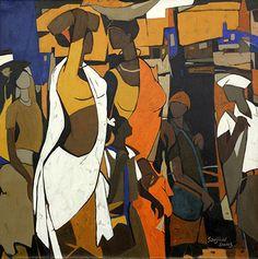 Online Art Gallery: Buy Indian Art Online, Paintings, Prints and Indian Artwork, Indian Folk Art, Indian Paintings, Indian Artist, Painting Gallery, Art Gallery, Indian Contemporary Art, India Art, Cat Art