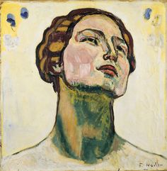 "chloefrancillon: "" Ferdinand Hodler (Swiss, 1853 - 1918) Looking into Infinity. Head study, 1914-1917 """