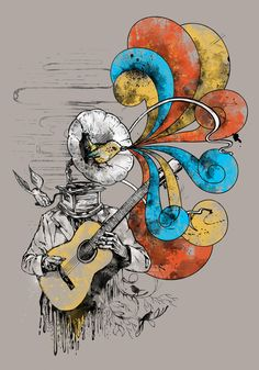 Old lullaby - Art Print by Alfboc