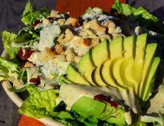 Vegetarian Caesar salad with homemade dressing and avocado. Simple and perfect! Caesar Salad, Cobb Salad, Hand Cut Fries, Wild Garlic, Homemade Dressing, Homemade Food, Street Food, Copenhagen, Avocado Toast