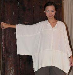 inspiration - OH MY GAUZE Cotton JOYCE Lagenlook Tunic Poncho Top OSFM M/L/XL/1X u-chz COLOR   eBay