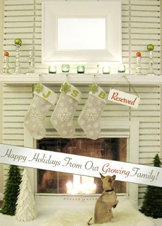 Awesome Xmas Card idea for expecting parents Merry Christmas (Card) | Young House Love