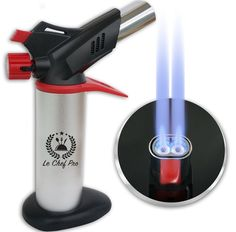 DOUBLE FLAME Kitchen Blow Torch for Creme Brulee Best Cooks Torch Chefs Butan...