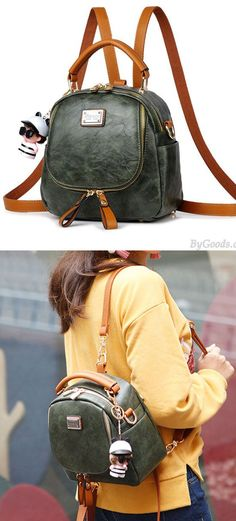 69515c20ae8d Retro Multi-function Small Square PU Shoulder Bag Handbag Backpack only   32.99