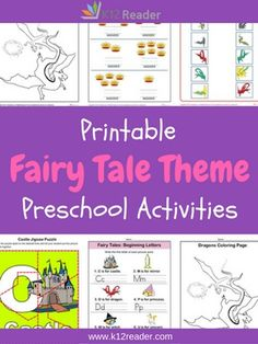 Explore the wonderful land of fairy tales with these printable Preschool Theme Activities. Students will have fun learning about the elements of a fairy tale, such as princesses, dragons, castles and crowns, with this pack of themed worksheets.