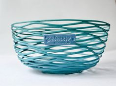 100% recycled plastic sky blue bowl woven bowlround