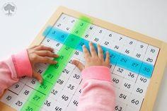 El tablero de Pitágoras Montessori es un material que no se ve mucho y que me parece muy interesante para practicar la multiplicación y algunas de sus propiedades.