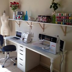 sewing room Idea I used when I did grans