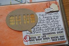 Totally love this: 4x6, card, thought bubble, embellishment...