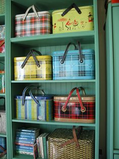 vintage picnic tins
