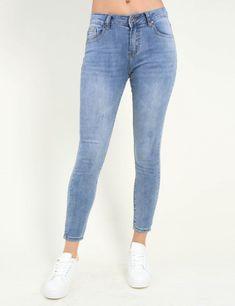 9cf56bb64ba0 Γυναικείο μπλε χλώριο τζιν παντελόνι σωλήνας ITA1081  jean  online  torouxo   eshop