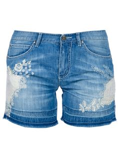 Ermanno Scervino lace denim shorts