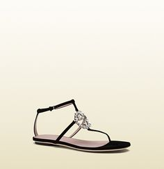 Gucci - GG sparkling suede thong sandal 353735C9D501000
