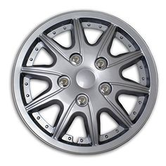 TuningPros WSC2-004S16 Hubcaps Wheel Skin Cover Kind 2 16-Inches Silver Adjust of 4 - http://onlinebusiness-rc.com/carwheels/tuningpros-wsc2-004s16-hubcaps-wheel-skin-cover-type-2-16-inches-silver-set-of-4/