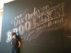 Interactive chalk wall idea