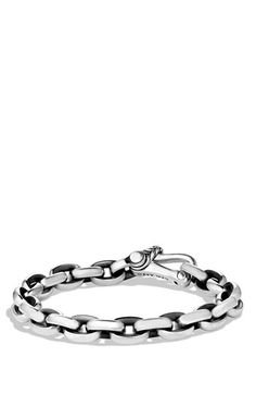 Men's David Yurman 'Oval' Link Bracelet - Silver