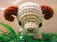 Crochet Sheep, Ram and Goat Patterns for Chinese New Year: Amigurumi Rae the Ram Pattern
