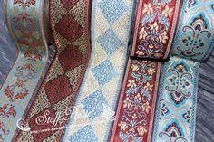 Rollos de cintas - Lote de Cinta 10m M01A bordado vintage flor - hecho a mano por stoff-borte en DaWanda