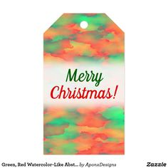 Shop for Merry Christmas gift tags & enclosure cards on Zazzle. Christmas Gift Tags, Merry Christmas, Abstract Pattern, Watercolor, Green, Cards, Merry Little Christmas, Pen And Wash, Watercolor Painting