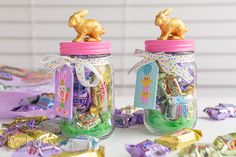 How to Make This Cute Bunny Candy Jar for Easy DIY Easter Decor | Posh in Progress