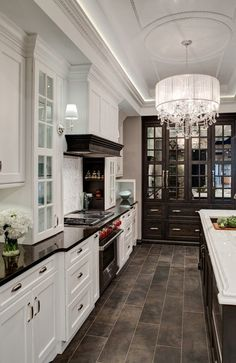 White pale grey contemporary farmhouse style kitchen House