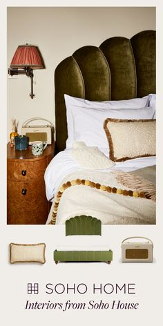 Soho Home is an interiors collection from Soho House that includes furniture, lighting, tableware, textiles and accessories created for, and inspired by the Houses worldwide. Contemporary Bedroom, Modern Bedroom, Bedroom Decor, Soho House, Boudoir, Desk In Living Room, Hygge Home, Vintage Room, Beautiful Bedrooms