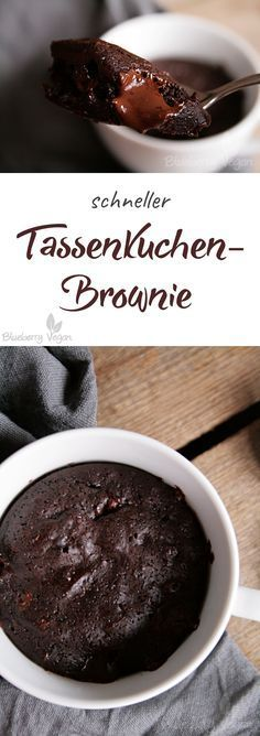 Brownies Tassenkuchen vegan