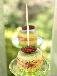 ❥ Matcha macarons