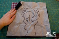 Deer Head Pillow Tutorial